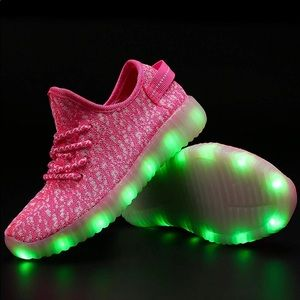 Other - LED Sneakers Multi color light up pink sneakers